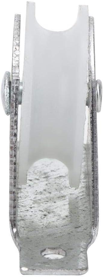 4-teiliges Rad mit Halterung f/ür Tor-Inverted-Track-Rolling-Auffahrt Leiter-Riemenscheibenrad Ersatzteilzubeh/ör Duokon Leiter-Riemenscheibenrad