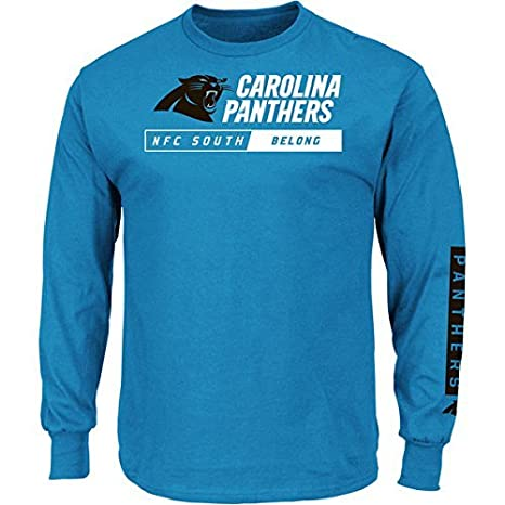 381ea030f Carolina Panthers Majestic NFL Men s Big   Tall  quot Primary  Receiver quot  Long Sleeve Shirt