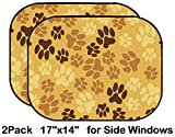 Liili Car Sun Shade for Side Rear Window Blocks UV Ray Sunlight Heat - Protect Baby and Pet - 2 Pack Image ID: 24850734 Seamless Pattern Animal Footprints