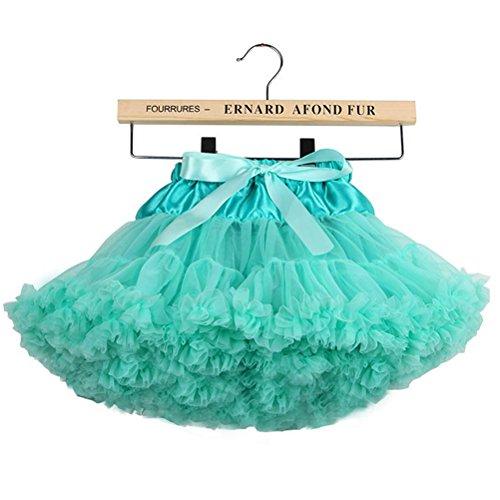 (storeofbaby Girls Chiffon Fluffy Tutu Skirt Princess Party Petticoat,8-10 Years/L,LightGreen)