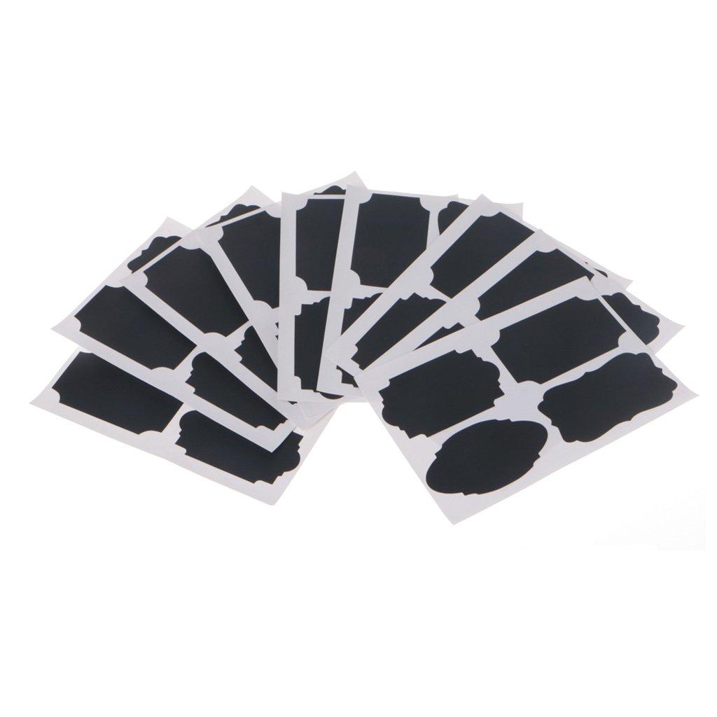 Yasheep ré utilisables Tableau noir Tableau noir é tiquettes Autocollant kit, 36 piè ces Bouteille é tiquettes Stickers pour bocaux, vin, Garde-manger de stockage Autocollant Dé cor de cuisine