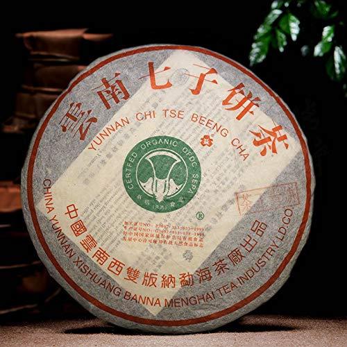 (2002 Certified Organic Banzhang Cabbage Tea King Green Cake Pu-erh Raw Tea 357g Puer Raw Tea)