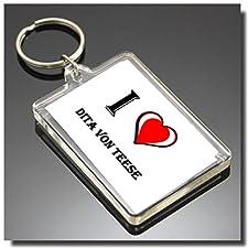 Key Chain I Heart DITA VON Teese Keyring - I Love DITA VON Teese Keyring