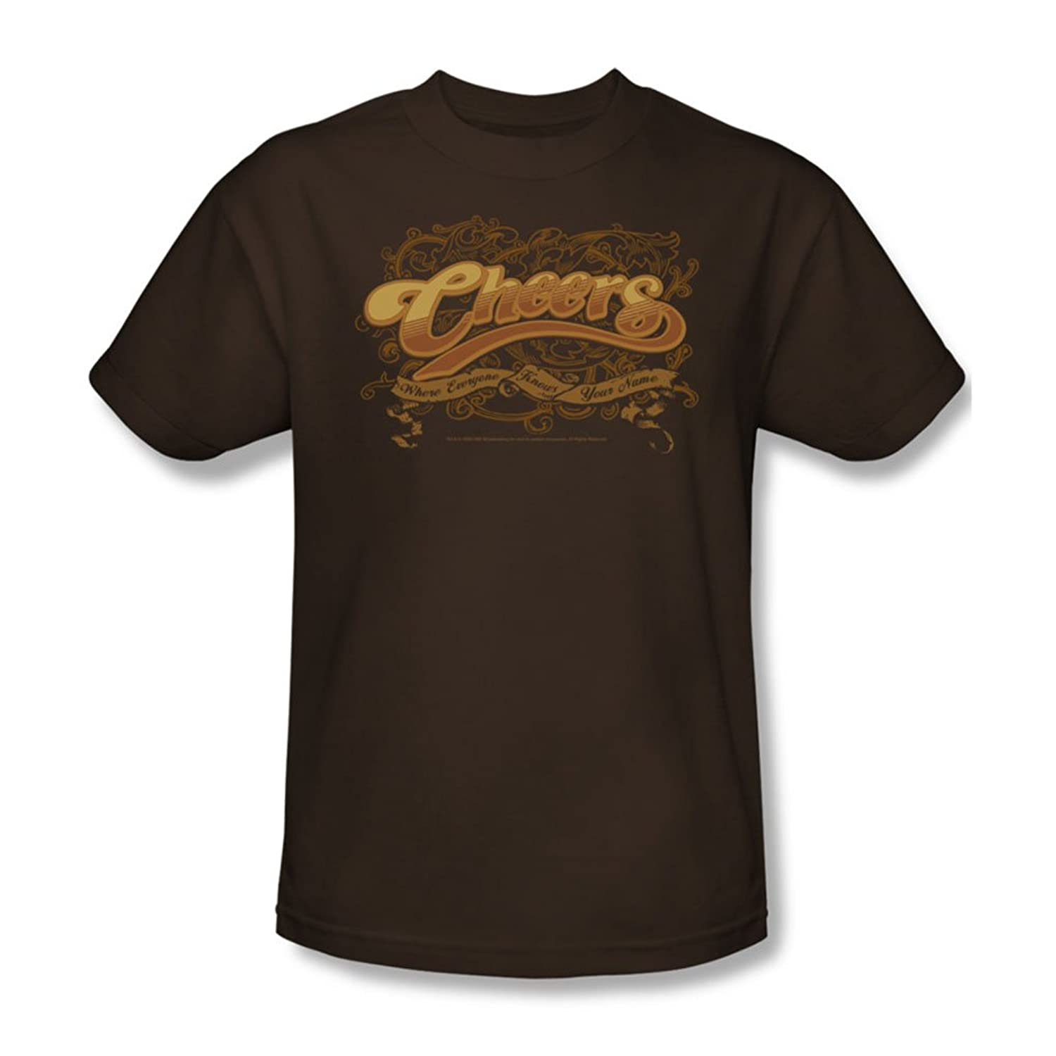 Cbs - Cheers / Scrolled Logo Adult T-Shirt In Coffee