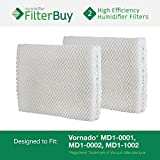 Vornado MD1-0001, MD1-0002, MD1-1002 Humidifier Wick Filter. Designed by FilterBuy to fit all Vornado Evaporative Humidifiers. Pack of 2 Filters.