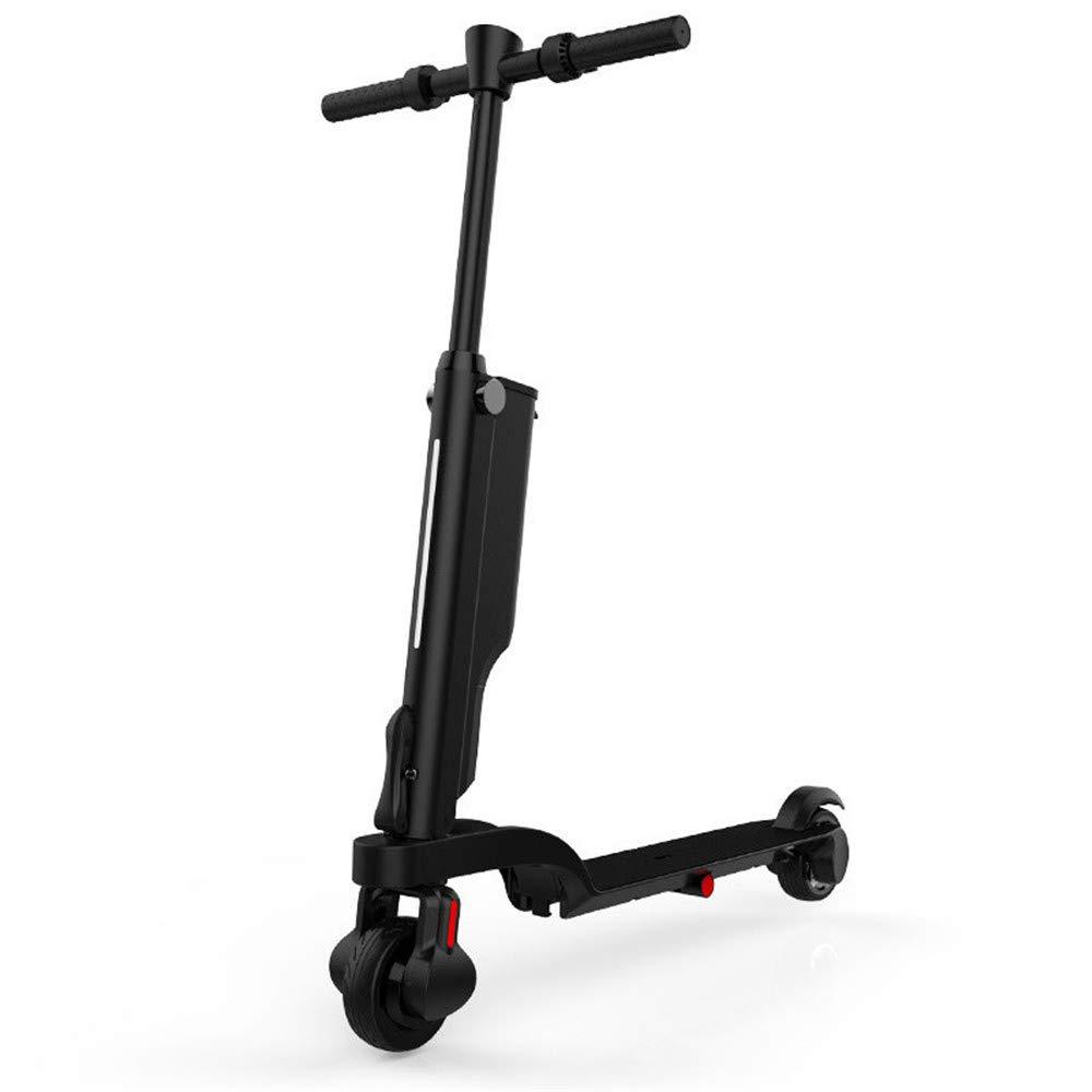 DYHQQ Scooter Elettrico Adulto Leggero Pieghevole con Batteria agli ioni di Litio, Nero