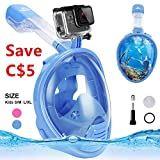 Snorkeling Mask Snorkel Mask Full Face Diving Mask,180° Panoramic Compatible Mask with Easy