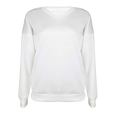 Image Unavailable. Image not available for. Color  Back Lace Up Crew Neck  Sweatshirt Solid Long Sleeve Women Hoodies Pullover Top ... bc3bf857c