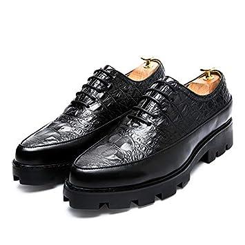 LOVDRAM Calzado De Hombre Patrón De Cocodrilo para Hombre Zapatos De Hombre De Negocios Puntiagudos Zapatos De Vestir De Negocios Zapatos De Moda De Encaje ...