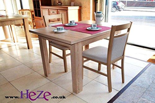 Extending dining table, light or dark oak or white colours, perfect size! (Oak Sonoma)