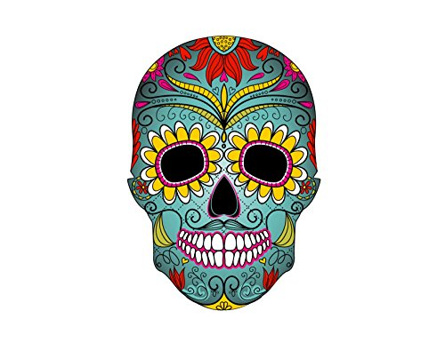 Sugar Skull Colorful Birthday Edible Cake Topper 8