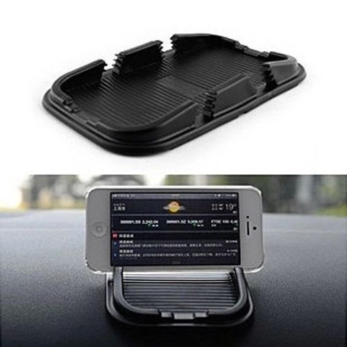 BESTBY Anti Slip Sticky Pad Dash Mount with 2 Slots for Smartphones PDAs and GPS (2PCS)