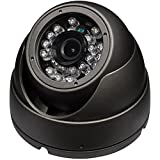 SPT INS-D3600G Outdoor 3 Axis IR Dome Camera, 1000TVL 3.6mm Lens, 24 Pieces LED (Gray)