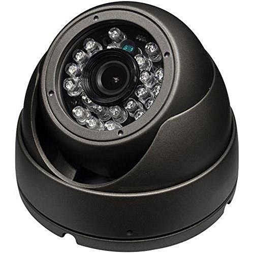 SPT INS-D3600G Outdoor 3 Axis IR Dome Camera, 1000TVL 3.6mm Lens, 24 Pieces LED (Gray)