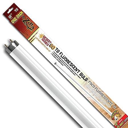 Zilla 11840 18-Inch Desert 50 UVB T8 Fluorescent Bulb, 15-Watt 100111840