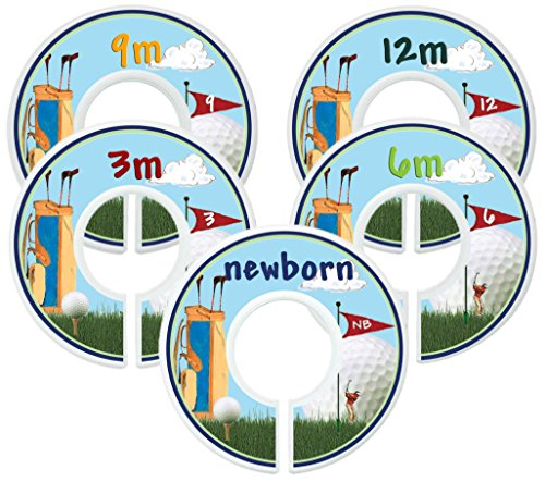 Mumsy Goose Baby Boy Clothes Dividers Nursery Closet Dividers Closet Organizers Golf