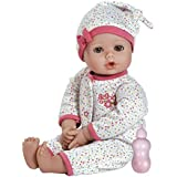 "Adora PlayTime Baby Dot Vinyl 13"" Girl Weighted Washable Play Doll Gift Set with Open/Close Eyes for Children 1+ Includes Bottle Cuddly Snuggle Soft Toy"