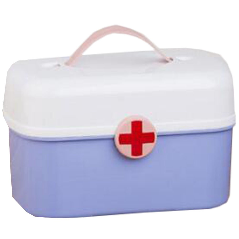 Portable Household First-Aid Kit/Medicine Storage Box Pill Organizer Blue by Kylin Express