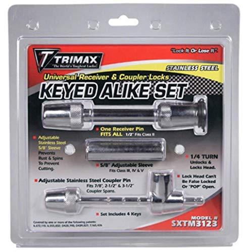(Trimax SXTM3123 Premium Coupler Lock - Keyed-Alike Stainless Steel Universal Lock Set)