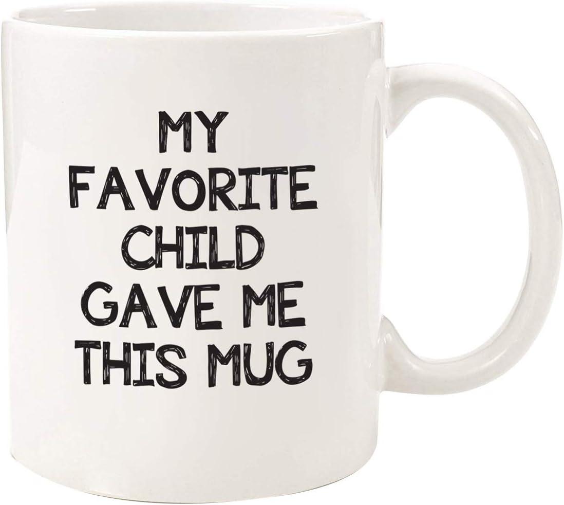 SODIAL My Favorite Gave Me This Funny Coffee Mug-los Mejores Regalos Navidad para Mamá y Papá-Idea Gag Hija,Hijo,Ni?Os- Regalo Cumplea?Os Novedoso para Padres