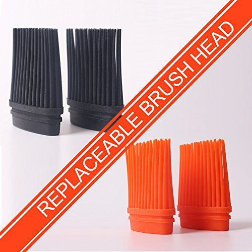 RWM Basting Brush - Good Grips Flexible Heatproof Stainless Steel Pastry Brush with Back up Silicone Brush Head Resistant,Food Grade,Dishwasher Safe,BPA Free,Bristle Free,Pack of 2(Version Updating) by RWM (Image #8)