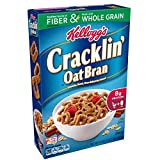 Kellogg's Breakfast Cereal, Cracklin' Oat Bran, Excellent Source of Fiber, Made with Whole Grain, 17 oz Box(Pack of 10)
