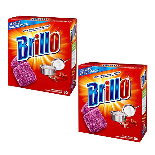 Brillo® Steel Wool Soap Pads 794628302188 Original Scent (Red), 30-Count Jumbo Pack (Pack of - Collection Brillo
