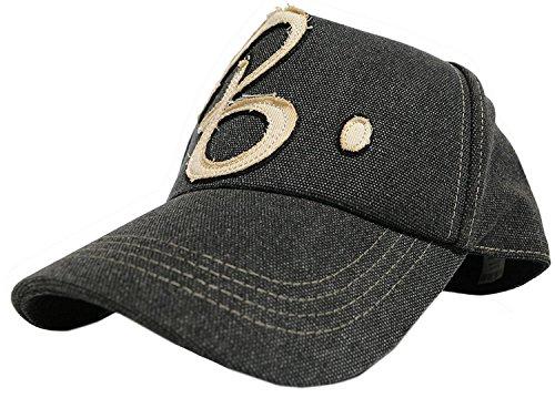 [ビッグワッチ] 帽子 大きいサイズ コットン ワッペン キャップ グレー CPB-01 メンズ L LL