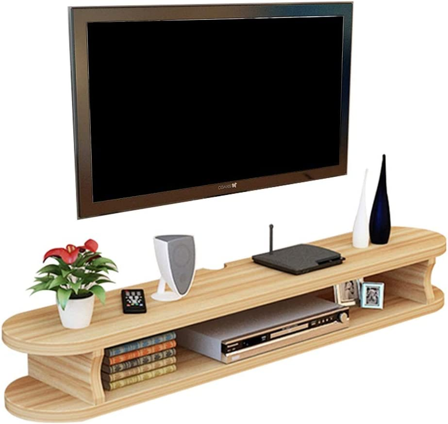 Gabinete de TV moderno Blu-Ray cajas de cable Altavoces - fácil de montar muebles de madera flotante en la pared TV monte tiempo de conservación montado en estantes Muebles de salón y