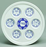 Star Of David Porcelain Seder Plate Artistic Design 10''