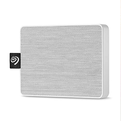 Seagate One Touch SSD 1TB External Solid State Drive Portable – USB-C USB 3.0 for PC Laptop and Mac – White (STJE1000402)