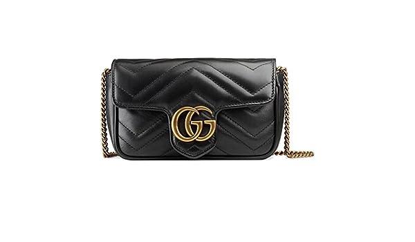 8b4636b7cb1 Amazon.com  Gucci GG Marmont Matelassé Leather Super Mini Bag Handbag  Article  476433 DSVRT 1000  Shoes
