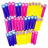 Boley 36 Count Bubble Sticks Pack - Blue, Yellow, and Pink Bubbles For Kids - Large Bulk Pack For Party Favors and Gifts