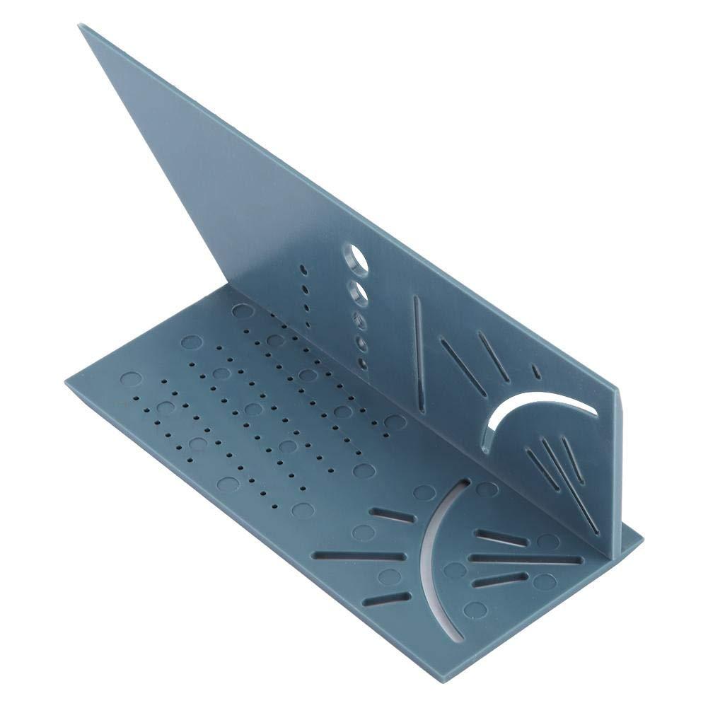 Angle de travail du bois 3D mesurant la pr/écision de r/ègle de jauge de jauge doutil de mesure de taille carr/ée pour lutilisation de menuiserie professionnelle multi-fonctionnelle