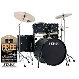 Tama Imperialstar Complete Drum Set - 5-piece - Black with Black Nickel Hardware 12