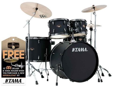 Tama Imperialstar Complete Drum Set - 5-piece - Black with Black Nickel Hardware