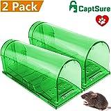 CaptSure Humane Smart Mouse Trap, Live Catch and Release Rodents, No Kill, No Pain, Safe around Children & Pet (2 Pack Set)