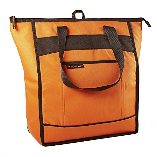 Rachael Ray Chillout Insulated Tote, Cooler Bag for Grocery Shopping, Transport Hot and Cold Food, Tailgates, Camping, Beach, Reusable, Orange]()