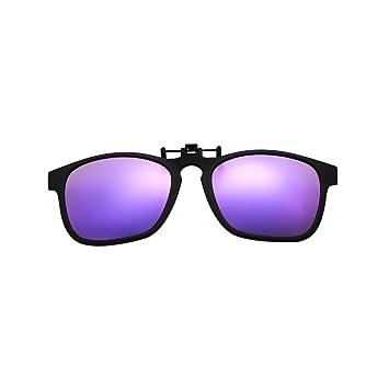 Clip – en Flip Up gafas de sol, lente de cristal de conducción Classic con marco TR90 polarizadas gafas