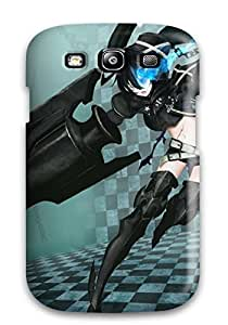 Galaxy S3 Hybrid Tpu Case Cover Silicon Bumper Black Rock Shooter