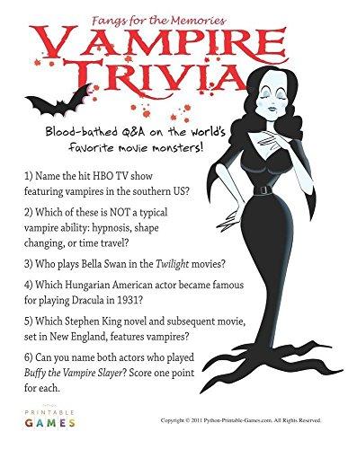 Halloween: Vampire Trivia