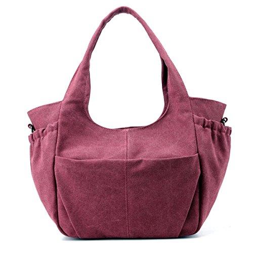 Frauen Vintage-Leinwand Messenger Ipad Schulter Handtasche Sling Reisen Tasche ,C-OneSize