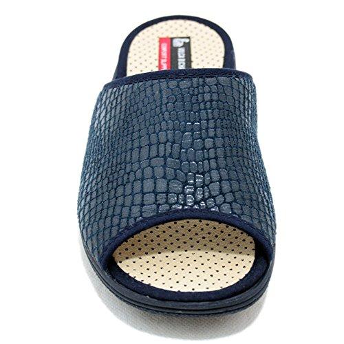 Vulcabicha 709 - Zapatillas con cuña azul marino transpirables para verano Azul marino