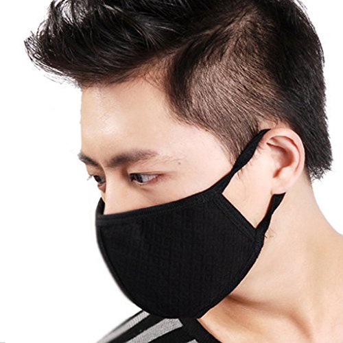 3 Pcs Unisex Dust Allergy Flu Masks Washable Activated Carbon Cotton Breath Healthy Safety Respirator Warm Ski Cycling Half Face Mouth Masks Filters Dust Pollen Allergens Flu Germs Home Surgical Masks (Mask Washable)
