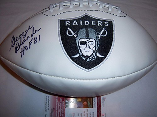 George Blanda Autographed Football - 9