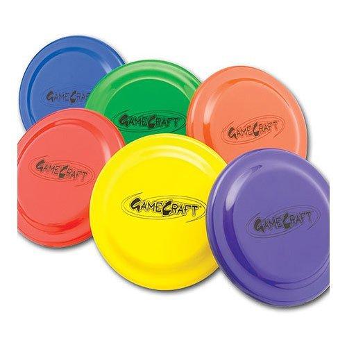 GameCraft Plastic Flying Discs (Set of 6), 9-Inch