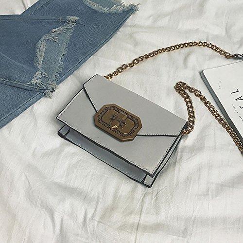 Rétro Petit Wind Chaîne Carré Étudiant Gris Messenger Femelle Couleur Kong 4 Option Sac Hong En Lock ZCM Sac 5Aqwvd8xv