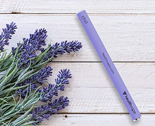 CHILL Aromatherapy Inhaler Pen – Relaxation and Anxiety Supplement – Natural Stress Relief with Chamomile, Lavender, Geranium, Orange Oil, Passionflower, Valerian by HealthVape (Image #5)