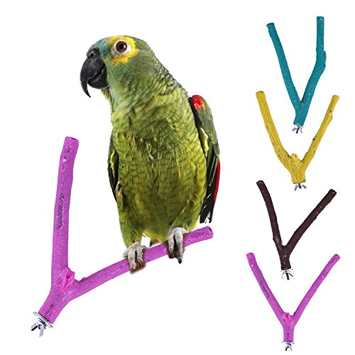 anch Stand Perch Toys for Grinding Claws Ideal for Parakeet Cockatiel Parrot Macaw Conure Finch (Sand Perch Swing)