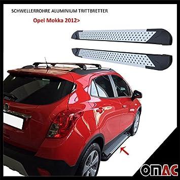Potenciador tubos aluminio pedalada Tablas para Opel Mokka Chevrolet Trax desde 2012 Almond (163): Amazon.es: Coche y moto
